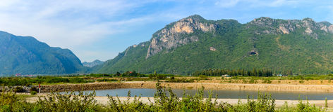 Landscape with rivers and hills in the Khao Sam Roi Yot National Stock Photo