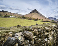 Landscape of road alongside Wast Water in Lake District in Engla Stock Photography