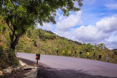 Landscape road curve costa rica clouds Stock Photos