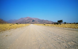 Landscape and road in Damaraland area Royalty Free Stock Photography