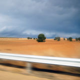 Landscape on the road side. Landscape on the road side in stormy weather Stock Photo