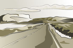 Landscape road vector illustration Stock Photos