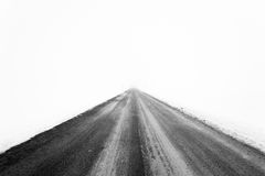 Road in the white. Landscape with road in the white Royalty Free Stock Photography