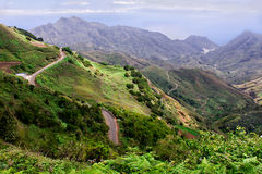 Landscape of roads in the mountains Royalty Free Stock Photos