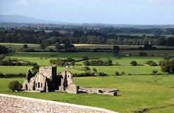 Landscape from Rock of Cashel, Ireland Stock Photos