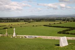 Landscape from Rock of Cashel, Ireland Stock Photo