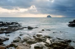 Landscape of rock coast and beautiful cloud Stock Photography
