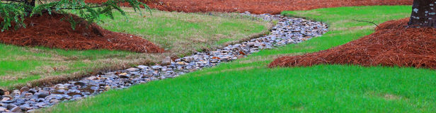 Landscape with rock creek-narrow Stock Photography