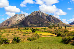 Landscape with rock formation in central Madagascar Royalty Free Stock Photography