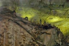 Landscape of rock formation inside the cave Magura near  village Rabisha Royalty Free Stock Photo