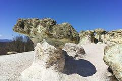 Rock formation The Stone Mushrooms, Bulgaria royalty free stock photo