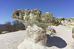 Rock formation The Stone Mushrooms, Bulgaria royalty free stock images