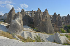Landscape with rock formations - Cappadocia Royalty Free Stock Photos