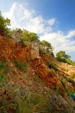 Landscape with rock and trees Royalty Free Stock Images