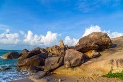 Landscape rocks beach Samui Island Royalty Free Stock Photo