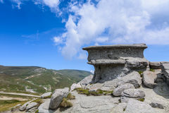 Landscape with rocks from Bucegi Mountains, part of Southern Carpathians in Romania Stock Photos