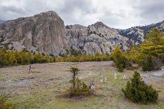 Landscape Rocks Mountains Nature Viewpoint.Mountain Trekking Landscapes Background. Nobody photo.Asia Travel Horizontal Stock Photos