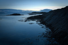 Landscape with rocks in ocean Royalty Free Stock Photo