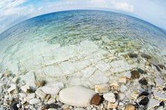 Landscape of rocky Black sea coast Royalty Free Stock Images