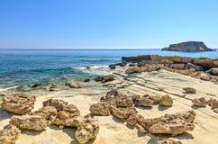 Landscape with rocky coast Stock Image