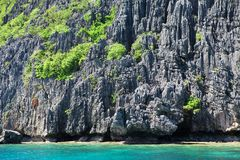 Landscape with rocky island near Palawan Stock Image