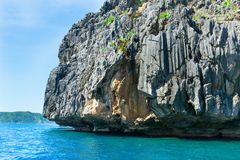 Landscape with rocky island near Palawan Royalty Free Stock Photos