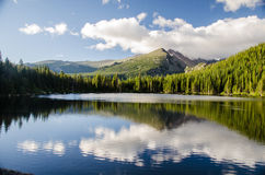 Landscape of rocky mountain glacial lake Stock Photo