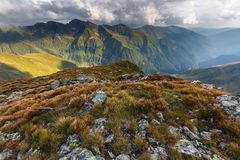 Alpine landscape in a cloudy day Stock Photography