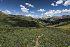 Landscape in the Rocky Mountains, Maroon-Snowmass Wilderness Stock Images