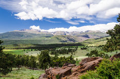 Landscape of rocky mountains Royalty Free Stock Photos