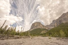 Textured Cloudy Sky in the Rocky Mountains royalty free stock photography