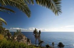 Landscape of a rocky seashore Royalty Free Stock Photos