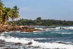 Free Landscape Rocky Tropical Beach. Royalty Free Stock Image - 74009096
