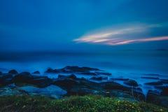 Landscape rocky tropical beach. Royalty Free Stock Photos