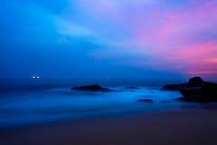 Landscape rocky tropical beach. Stock Images