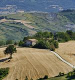 Landscape in Romagna at summer from Sogliano al Rubicone Royalty Free Stock Photography