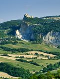 Landscape in Romagna at summer:, view of San Leo Royalty Free Stock Photos