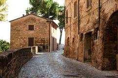 Landscape Romagna. View street of a medieval landscape in Santarcangelo di Romagna, Rimini Royalty Free Stock Image