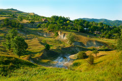 Landscape from romanian countryside near Buzau. Stock Image