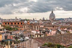 Landscape of Rome. With cloudy sky Royalty Free Stock Images