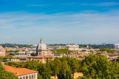 Landscape of Rome seen from the Janiculum Royalty Free Stock Photography
