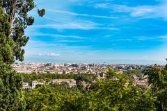 Landscape of Rome seen from Janiculum promenade. Italy Stock Photo