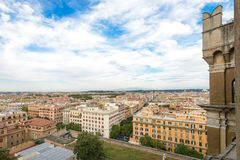 Landscape of Rome. A wonderful landscape of Rome in Italy Royalty Free Stock Photo