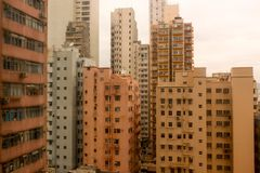 Landscape Rooftops of the orange buildings in hongkong Royalty Free Stock Photos