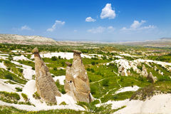 The landscape of the Rose valley in Cappadocia Stock Photography