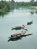 Landscape, row boat,  river, poor Vietnam Stock Images