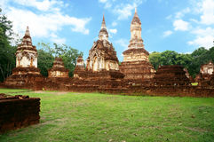 Landscape of ruin of pagodas Royalty Free Stock Photography