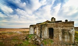 Landscape with ruins Royalty Free Stock Photo