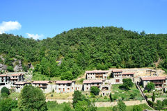 Landscape in Rupit, Barcelona, Spain. View of a landscape of Rupit village in Barcelona, Spain Royalty Free Stock Images