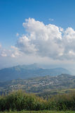 Landscape of rural city in moutain at northern thailand. Royalty Free Stock Photography